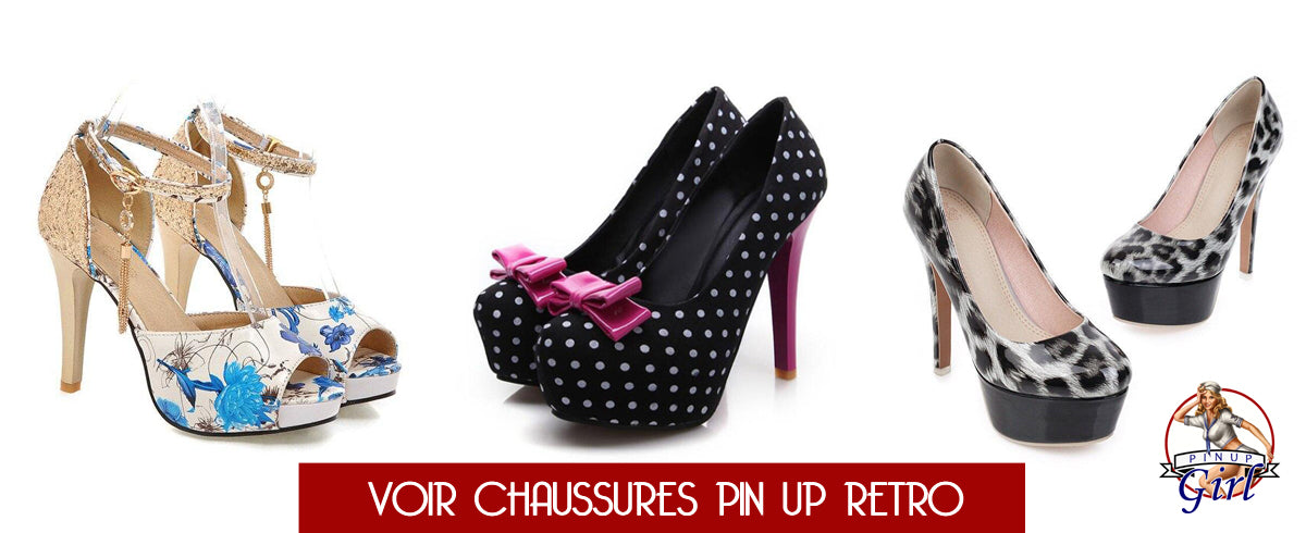 Collection de chaussure Pin Up Girl pour la mode vintage