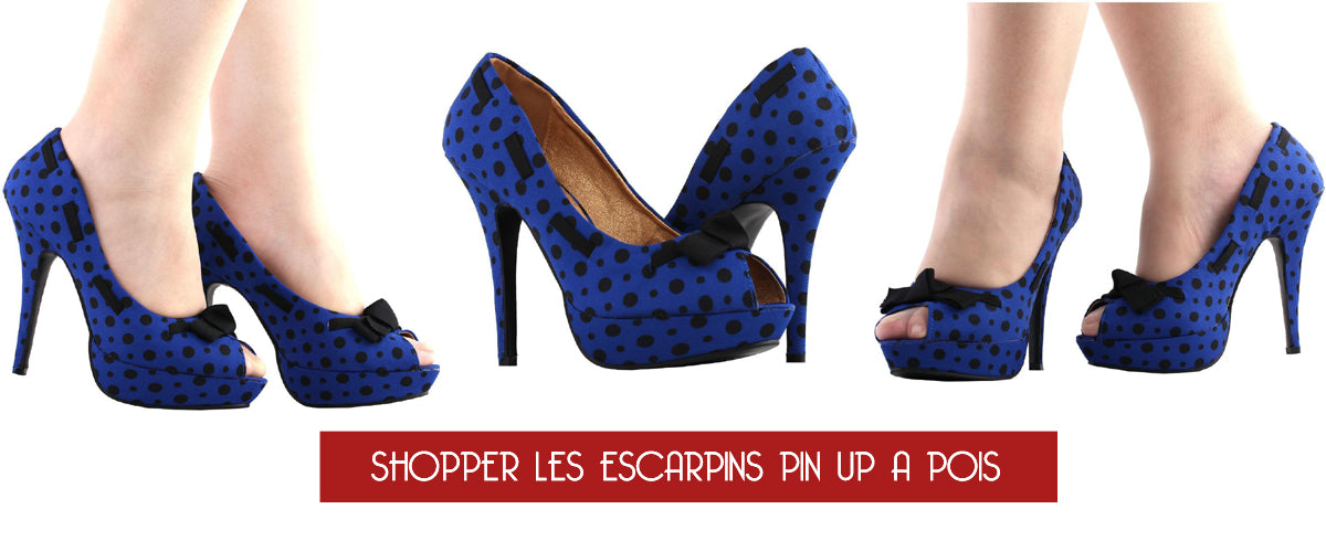 Porter des escarpins pin up bleu