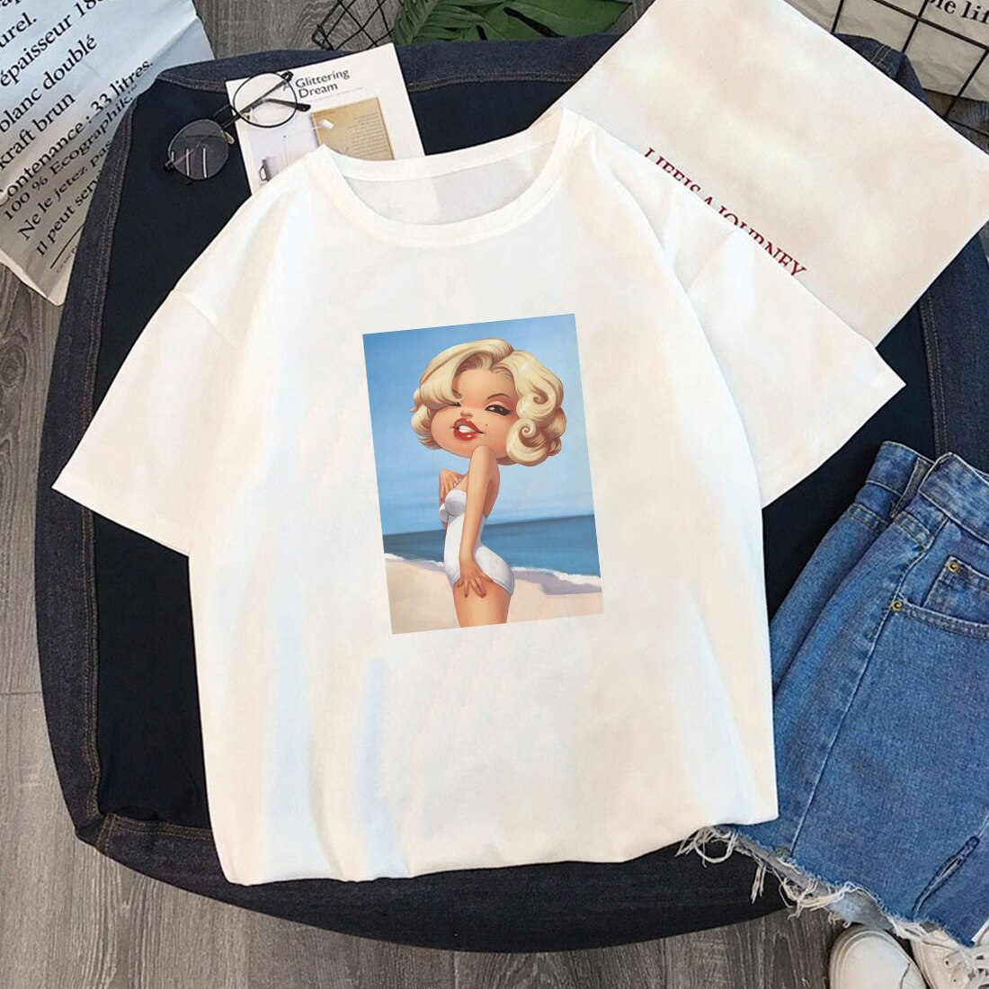 T-shirt vintage <br> Caricature Maryline