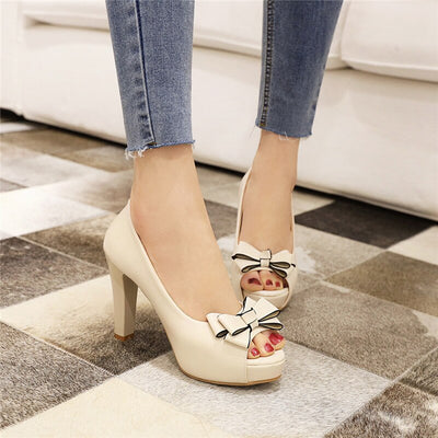Chaussure Pin up <br> Beige