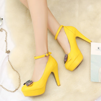 Chaussures Pin up <br> Jaune