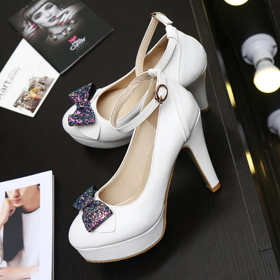 Chaussures Pin up <br> Blanche