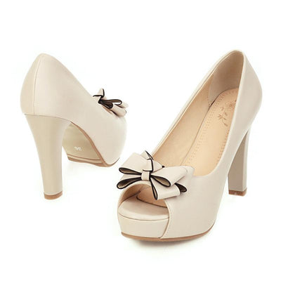Chaussure Pin up  Beige