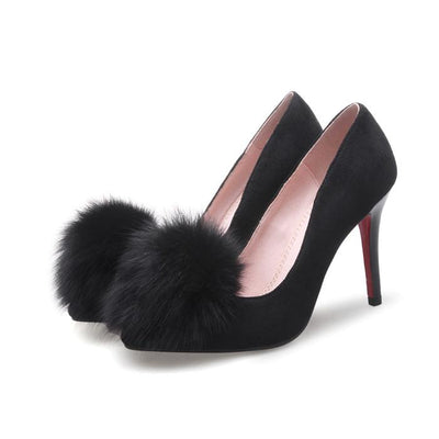 Chaussure Pin Up  Escarpin Daim Noir