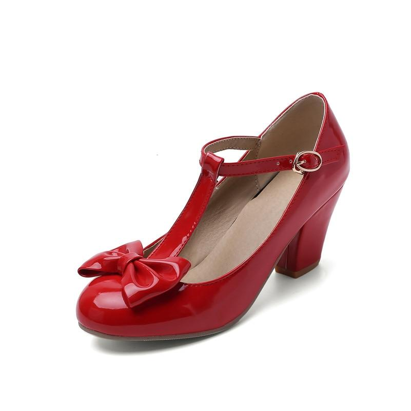 Chaussure Pin Up  Rouge Gros Talon