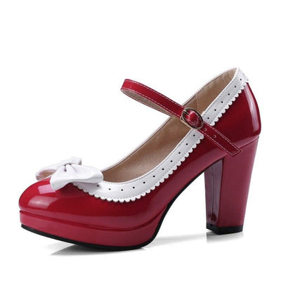 Chaussure Pin Up  Rouge