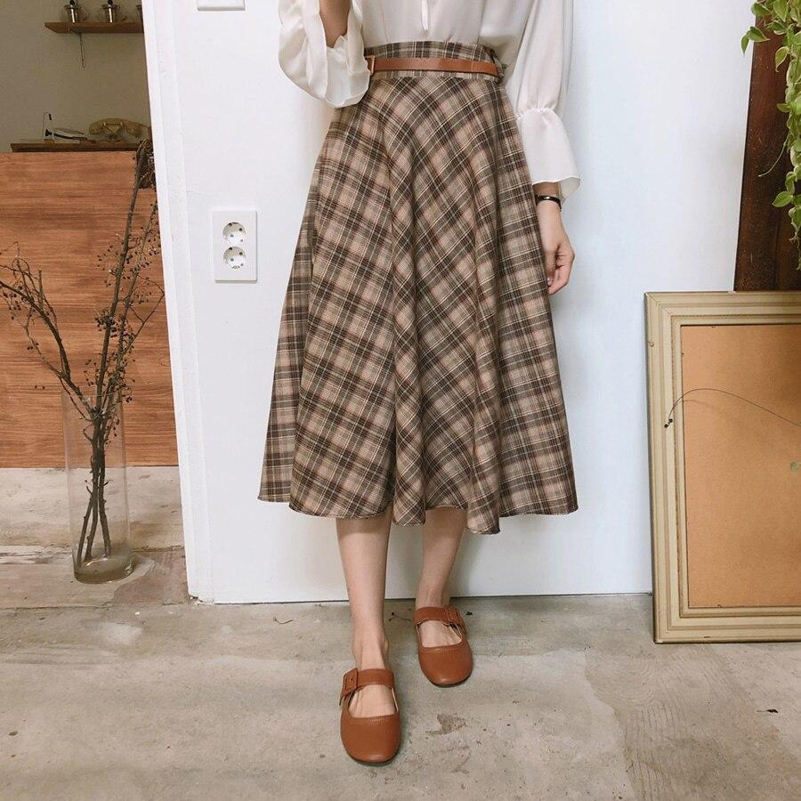 Jupe vintage plaid