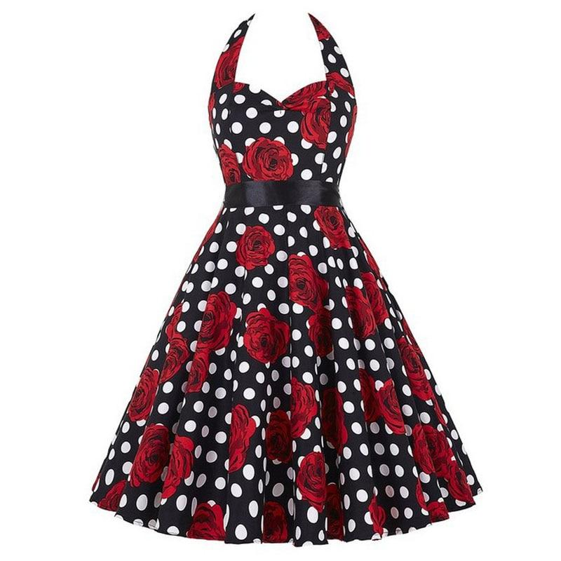 Robe pin up Rockabilly fleuris