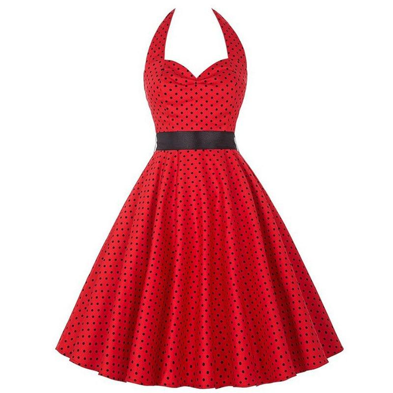 Robe pin up Rockabilly pois noir