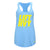 Lift HVY Active Tri Blend Athletic Blue Racer Back Tank