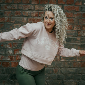 Wghtlifting Crop Sweatshirt in Dusky Pink