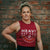 Heavy Rep Gear Athletics Crop Muscle Tank in Bali Red
