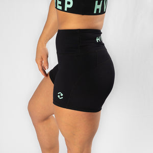 Perfect Fit HVY REP Black / Neo Mint Booty Shorts