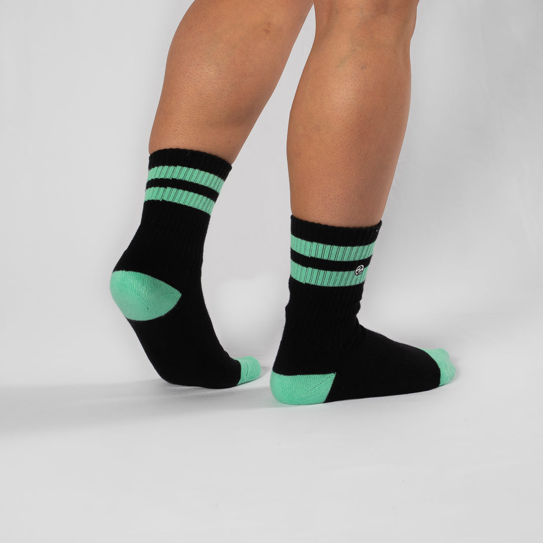 Strike 2 Black / Neo Mint Sock