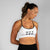 Free Flow HVY REP White / Black Sports Bra