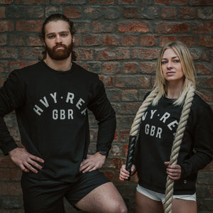 HVY REP GBR Crew Sweatshirt in Black