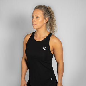 Racer Icon Black / White Tank