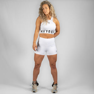 High Riser HVY REP White / Black Sports Bra