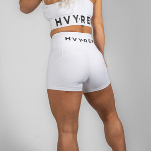 Perfect Fit HVY REP White / Black Booty Shorts