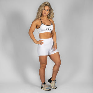Free Flow Icon White / Black Sports Bra