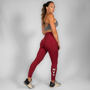 Nuluxe HVY REP Bali Red Leggings