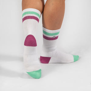 Strike 2 White / Neo Mint / Kiss Pink Sock