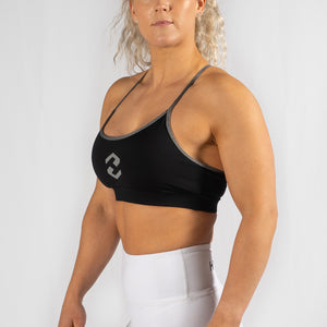 Free Flow Icon Black / Grey Sports Bra
