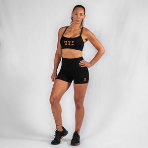 Energy HVY REP Black / Mustard Sports Bra