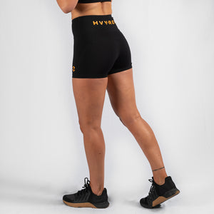 Perfect Fit HVY REP Black / Mustard Booty Shorts