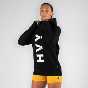 Team HVY REP Black / White Slimfit Hoodie