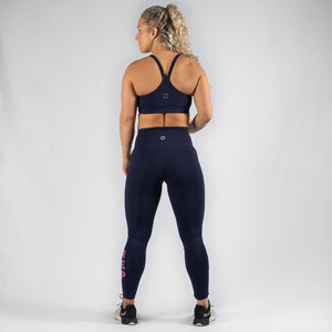 Energy HVY REP Navy / Kiss Pink Sports Bra