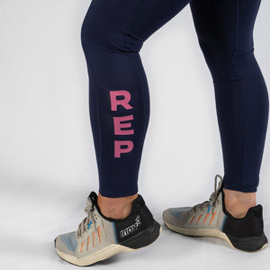 Nuluxe HVY REP Navy / Kiss Pink Leggings