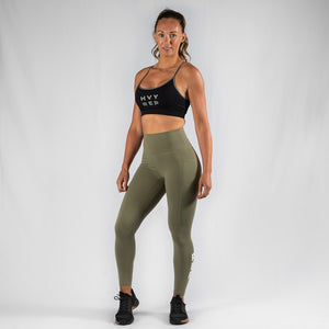 Free Flow HVY REP Black / White Sports Bra