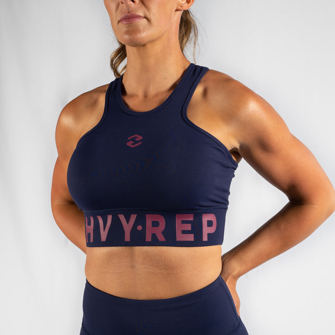 High Riser HVY REP Navy / Kiss Pink Sports Bra
