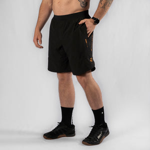 "MotionForce 3.0 Black / Mustard 8"" Training Shorts"