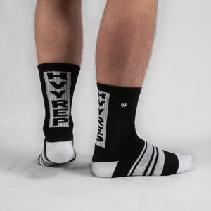 Vertigo HVY REP Black / White Sock