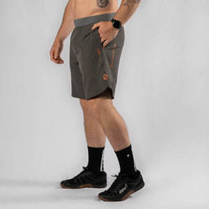 "MotionForce 3.0 Charcoal / Orange 10"" Training Shorts"