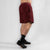 "MotionForce 3.0 Maroon / White 10"" Training Shorts"
