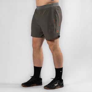 "MotionForce 3.0 Charcoal / Orange 8"" Training Shorts"