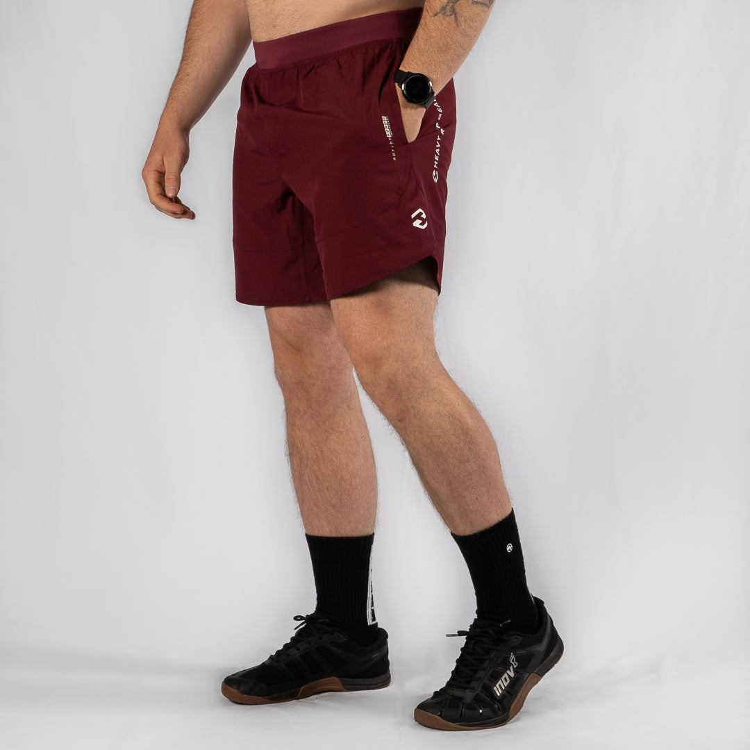 "MotionForce 3.0 Maroon / White 8"" Training Shorts"