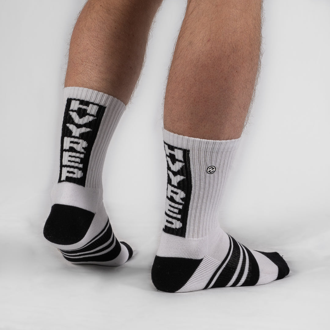 Vertigo HVY REP White / Black Sock