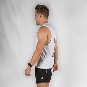 Team HVY REP White / Black Muscle Vest