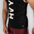 Team HVY REP Black / White Muscle Vest