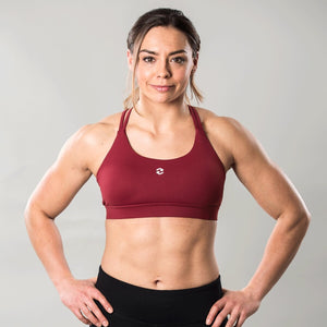 Fuse Sports Bra Maroon