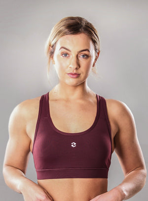 Aura Sports Bra Maroon