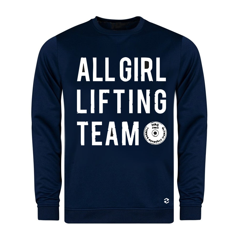 All Girl Lifting Club Flex Navy Sweatshirt