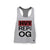 OG Active Tri Blend Athletic Grey Racer Back Tank