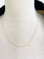 Delicate 14K Cable Chain Necklace