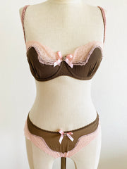 "3 Pc. Agent Provocateur ""Caramba"" Set 34D Bra / Sz 3 Thong Briefs & Shorts"