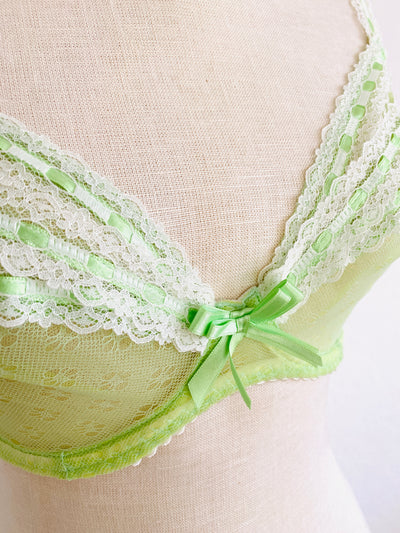 Agent Provocateur Lime Green Lace Bra 32E